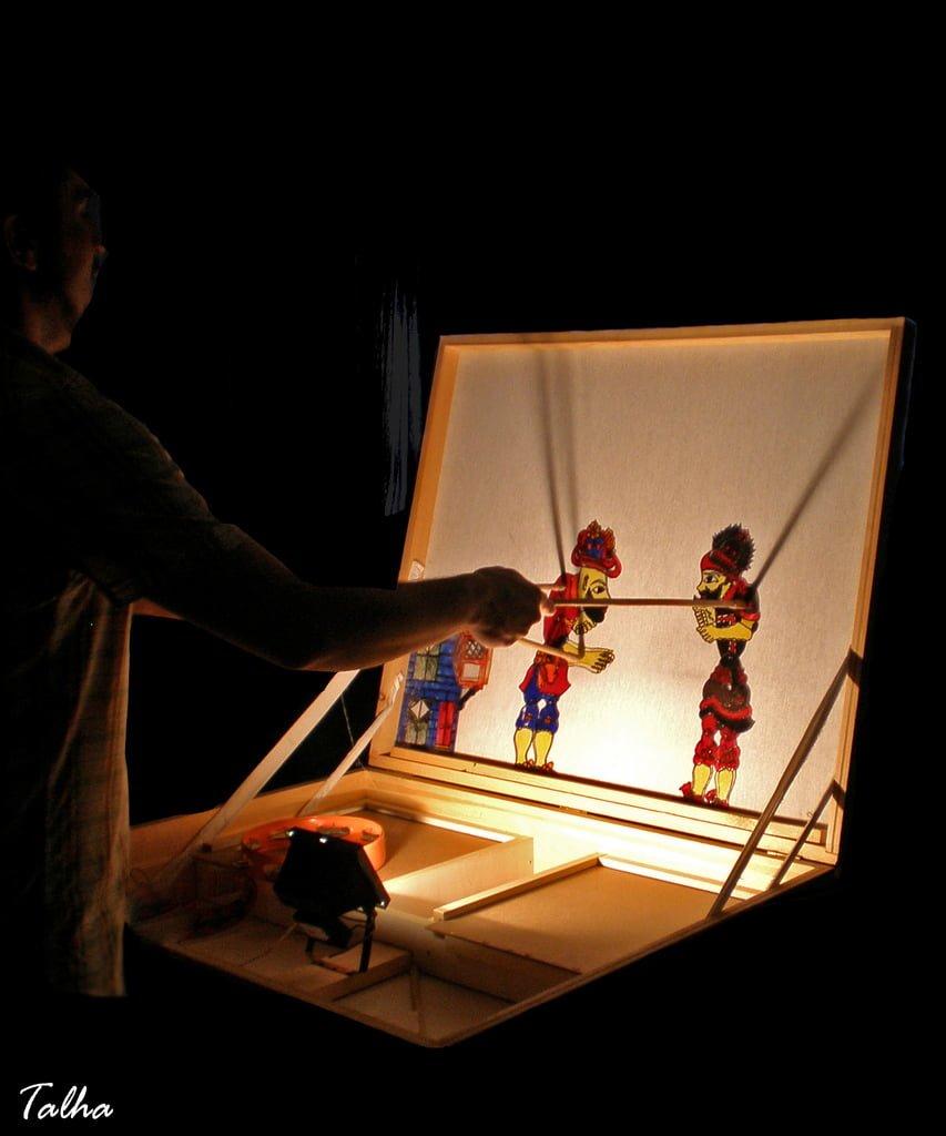 Traditional Turkish Puppet Shadow Theater Karagoz Hacivat